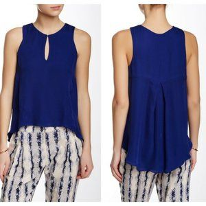 Parker Lonnie Royal Blue Sleeveless Silk Top
